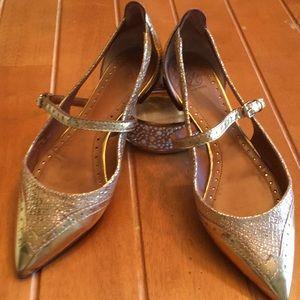 Tory Burch Bernadette Gold Shoes - size 7